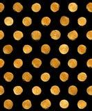 Ejemplo del extracto de Dot Seamless Pattern Paint Stain de la polca de la hoja de oro Forma brillante del movimiento del cepillo Fotografía de archivo