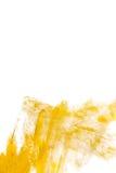 Ejemplo del extracto de la mancha de la pintura de la textura de la acuarela del oro Movimiento brillante del cepillo para usted  Fotografía de archivo