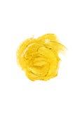 Ejemplo del extracto de la mancha de la pintura de la textura de la acuarela del oro Movimiento brillante del cepillo para usted  Fotos de archivo libres de regalías