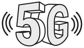 ejemplo del extracto de la tecnología 5G Imágenes de archivo libres de regalías