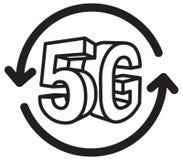 ejemplo del extracto de la tecnología 5G Foto de archivo
