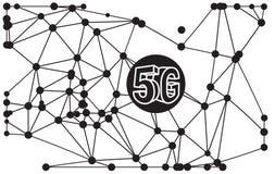 ejemplo del extracto de la tecnología 5G Imagen de archivo