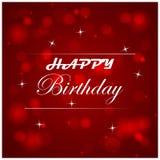 Ejemplo del feliz cumpleaños con la luz en el fondo Fotos de archivo libres de regalías