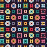 Ejemplo del fondo abstracto con la rejilla de figuras planas Fotos de archivo