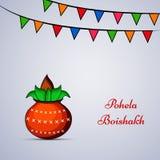 Ejemplo del fondo bengalí indio del Año Nuevo ilustración del vector