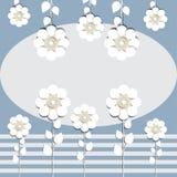 Ejemplo del fondo celebrador de las flores de papel para la colocación del texto fotos de archivo
