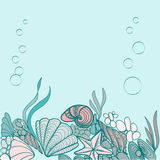 Ejemplo del fondo de la cáscara del mar Fotografía de archivo libre de regalías