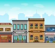 Ejemplo del fondo de la ciudad Imagen de archivo libre de regalías