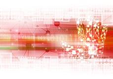 Ejemplo del fondo de la tecnología de la mano de Digitaces Fotografía de archivo libre de regalías