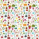Ejemplo del fondo de las verduras y de las frutas Foto de archivo libre de regalías