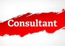 Ejemplo del fondo de Red Brush Abstract del consultor stock de ilustración