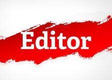 Ejemplo del fondo de Red Brush Abstract del redactor stock de ilustración