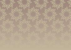 Ejemplo del fondo del vector del diseño floral de Brown Fotografía de archivo