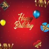 Ejemplo del fondo del feliz cumpleaños para el partido libre illustration