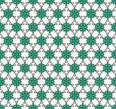 Ejemplo del fondo hexagonal de las estrellas del garabato foto de archivo libre de regalías