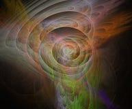 Ejemplo del fractal multicolor stock de ilustración