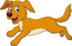 Funcionamiento lindo de la historieta del perro Imagen de archivo libre de regalías