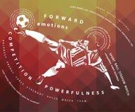 ejemplo del futbolista Fotografía de archivo libre de regalías