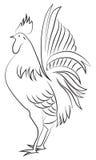 ejemplo del gallo stock de ilustración