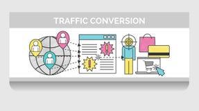 Ejemplo del garabato para la conversión del tráfico del web Ilustración del Vector