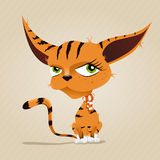Ejemplo del gato rojo Imagenes de archivo