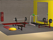 Ejemplo del gimnasio Imagenes de archivo