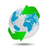 Ejemplo del globo de la tierra Imágenes de archivo libres de regalías