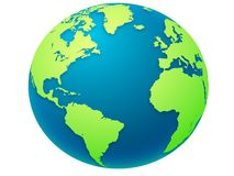 Ejemplo del globo de la tierra ilustración del vector