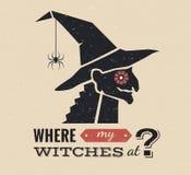 Ejemplo del gráfico de la bruja de Halloween Fotos de archivo libres de regalías