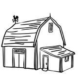 Ejemplo del granero del cortijo por los crafteroks ilustración del vector