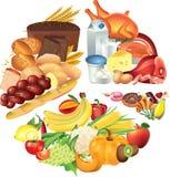 Ejemplo del gráfico de sectores de la comida Fotos de archivo