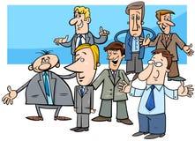 Ejemplo del grupo de los caracteres de los hombres de negocios de la historieta stock de ilustración