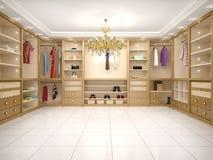 ejemplo del guardarropa de lujo en estilo moderno Imagen de archivo libre de regalías