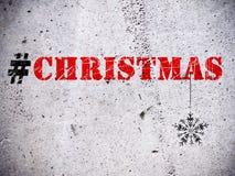 Ejemplo del hashtag de la Navidad Imágenes de archivo libres de regalías