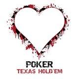 Ejemplo del holdem de Tejas del póker con efecto del grunge Imagenes de archivo