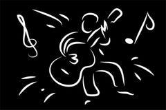 Ejemplo del hombre de la guitarra Imágenes de archivo libres de regalías