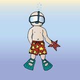 Ejemplo del hombre el vacaciones Un estudiante el vacaciones salto Imágenes de archivo libres de regalías