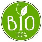 Ejemplo del icono con el 100% bio libre illustration