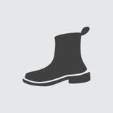 Ejemplo del icono de la bota Imágenes de archivo libres de regalías