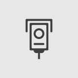 Ejemplo del icono de la cámara Imágenes de archivo libres de regalías