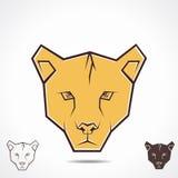 Ejemplo del icono de la cara del tigre Fotografía de archivo libre de regalías