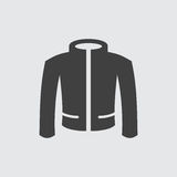 Ejemplo del icono de la chaqueta Imagen de archivo