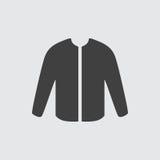 Ejemplo del icono de la chaqueta Fotos de archivo libres de regalías