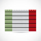 Icono de la compañía de la producción del apartadero de Italia Foto de archivo libre de regalías