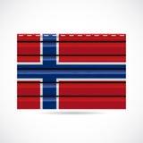 Icono de la compañía de la producción del apartadero de Noruega Foto de archivo