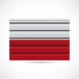 Icono de la compañía de la producción del apartadero de Polonia Imágenes de archivo libres de regalías