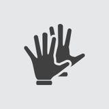 Ejemplo del icono de la mano Foto de archivo libre de regalías