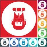 Ejemplo del icono de la mochila Foto de archivo