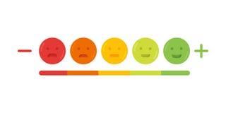 Ejemplo del icono de la sonrisa del emoji del emoticon de la reacción libre illustration