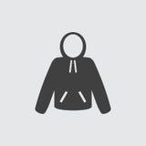 Ejemplo del icono de la sudadera con capucha Imágenes de archivo libres de regalías